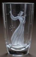Art Glass:Other , ORREFORS INTAGLIO GLASS VASE. Circa 1950. Engraved ORREFORS,(effaced mark), 2974852. Ht. 9-1/2 in.. ...