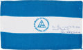 Explorers:Space Exploration, Apollo 15 Flown Flag of Nicaragua Originally from the PersonalCollection of Mission Commander Dave Scott, Signed and Certifie...