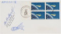 Explorers:Space Exploration, Alan Shepard Signed Apollo 14 Launch Cover....