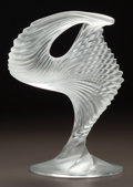 Art Glass:Lalique, LALIQUE CLEAR AND FROSTED GLASS MOYEN MODELE TROPHY. Dated3/19/1990. Engraved M. Lalique, 3.19.90. Ht. 13 in.. ...