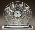 Art Glass:Lalique, LALIQUE CLEAR AND FROSTED GLASS CLOCK. In original box.. Post 1945.Engraved Lalique, France. Ht. 6-3/4 in.. ...
