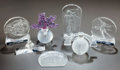 Art Glass:Lalique, SEVEN LALIQUE USA CLEAR AND FROSTED GLASS ANNUAL TABLE ITEMS, circa1990-1994. All engraved Lalique, France. 5-1/2 inche...(Total: 7 Items)
