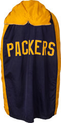 Football Collectibles:Uniforms, 1950's-60's Green Bay Packers Blue and Gold Game Worn Sideline Cape....
