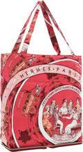 "Luxury Accessories:Bags, Hermes Rouge H Buffalo Leather and Burgundy ""Jeu Des Omnibus etDames Blaches,"" by Hugo Grygkar Silky Pop Tote Bag.Excell..."