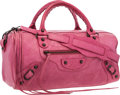 "Luxury Accessories:Bags, Balenciaga Pink Leather Classic First Bag . Very GoodCondition . 14"" Width x 6"" Height x 6"" Depth. ..."