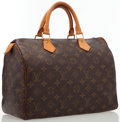 "Luxury Accessories:Bags, Louis Vuitton Classic Monogram Canvas Speedy 30 Bag . Very GoodCondition . 12"" Width x 7"" Depth x 8"" Height, 4""Handl..."