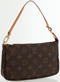 "Luxury Accessories:Bags, Louis Vuitton Classic Monogram Canvas Pochette Bag . ExcellentCondition . 8"" Width x 5"" Height x 1"" Depth x 5.5""Hand..."