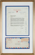 Autographs:Letters, 1954 New York Yankees Team Signed Letter With Mickey Mantle....