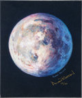 "Explorers:Space Exploration, Alan Bean Signed Limited Edition ""A Most Beautiful Moon"" GicléeCanvas, #53/150. ..."