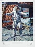 "Explorers:Space Exploration, Alan Bean Signed Limited Edition ""The Hammer and the Feather"" Print, also Signed by Dave Scott, #407/650...."