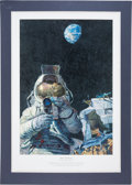 "Explorers:Space Exploration, Alan Bean Signed Limited Edition ""Moon Rovers"" Print, #134/550. ..."