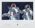 "Explorers:Space Exploration, Alan Bean Signed Limited Edition ""Heavenly Reflections"" Print, alsoSigned by Charles Conrad, #382/850...."