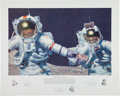 "Explorers:Space Exploration, Alan Bean Signed Limited Edition ""Right Stuff Field Geologists"" Print, also Signed by Gene Cernan and Harrison Schmitt, #15/55..."