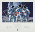 """Explorers:Space Exploration, Alan Bean Signed Limited Edition """"Conrad, Gordon, and Bean: The Fantasy"""" Print, also Signed by Charles Conrad and Richard Gord..."""