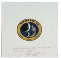 Explorers:Space Exploration, Apollo 14 Flown Beta Cloth Mission Insignia Originally from the Personal Collection of Mission Lunar Module Pilot Edgar Mitche...