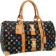"""Louis Vuitton Black Monogram Multicolore Canvas Keepall 45 Weekender Bag Very Good to Excellent Condition 18"""" Width..."""