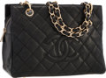 "Luxury Accessories:Bags, Chanel Black Caviar Leather Shopper PM Bag . ExcellentCondition . 10"" Width x 7"" Height x 5"" Depth . ..."