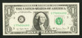 Error Notes:Ink Smears, Fr. 1910-C $1 1977A Federal Reserve Note. Gem Crisp Uncirculated.....