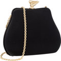 "Luxury Accessories:Bags, Kieselstein Cord Black Satin Evening Bag . Very Good toExcellent Condition . 6.5"" Width x 5"" Height x 2"" Depth. ..."