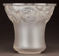 Art Glass:Lalique, R. LALIQUE CLEAR AND FROSTED GLASS ORLÉANS VASE. Circa 1930.Molded R. LALIQUE and engraved France. M p. 4...