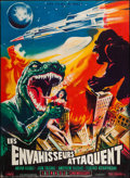 "Movie Posters:Science Fiction, Destroy All Monsters (Les Films Marbeuf, 1970). French Grande(45.25"" X 62""). Science Fiction.. ..."