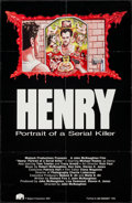 "Movie Posters:Crime, Henry: Portrait of a Serial Killer (Maljack, 1989). One Sheet (25""X 38.5"").. ..."