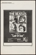 "Movie Posters:Rock and Roll, Let It Be (United Artists, 1970). Pressbook (6 Pages, 11"" X 17"").Rock and Roll.. ..."