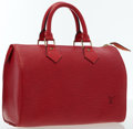 Luxury Accessories:Bags, Louis Vuitton Red Epi Leather Speedy 25 Bag. ...