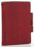 Luxury Accessories:Accessories, Hermes Rouge H Lizard Mini Vision Agenda. ...