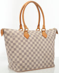 Luxury Accessories:Bags, Louis Vuitton Damier Azur Canvas Saleya MM Bag. ...