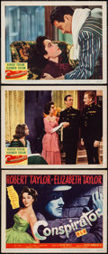"""Movie Posters:Adventure, Conspirator (MGM, 1949). Title Lobby Card & Lobby Cards (2)(11"""" X 14""""). Adventure.. ... (Total: 3 Items)"""