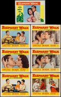 "Movie Posters:Adventure, Elephant Walk (Paramount, 1954 & R-1960). Lobby Cards (7) (11""X 14""). Adventure.. ... (Total: 7 Items)"
