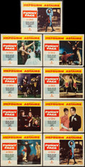 "Movie Posters:Romance, Funny Face (Paramount, 1957). Lobby Card Set of 8 & Lobby Card(11"" X 14""). Romance.. ... (Total: 9 Items)"