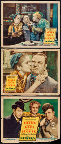 "Movie Posters:Adventure, The Bowery (United Artists, 1933). Title Lobby Card & LobbyCards (2) (11"" X 14""). Adventure.. ... (Total: 3 Items)"