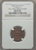 Civil War Merchants, 1863 V.A. Lake, Grain Dealer, Rockton, Illinois, AU53 NGC.Fuld-IL762A-1a....