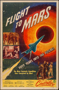 "Movie Posters:Science Fiction, Flight to Mars (Monogram, 1951). One Sheet (27"" X 41""). ScienceFiction.. ..."