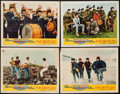 "Movie Posters:Rock and Roll, Help! (United Artists, 1965). Lobby Cards (4) (11"" X 14""). Rock andRoll.. ... (Total: 4 Items)"