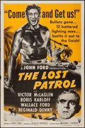"Movie Posters:War, The Lost Patrol (RKO, R-1954). One Sheet (27"" X 41""). War.. ..."