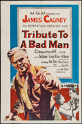 "Movie Posters:Western, Tribute to a Bad Man (MGM, 1956). One Sheet (27"" X 41""). Western.. ..."