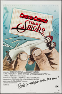 """Up in Smoke (Paramount, 1978). One Sheet (27"""" X 41"""") Withdrawn Style. Comedy"""