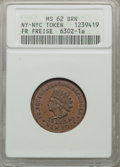Civil War Merchants, 1863 Fr. Freise, New York, New York, MS62 Brown ANACS,Fuld-NY630Z-1a; 1863 Christoph Karl, New York, New York, MS61 BrownANA... (Total: 2 tokens)