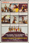 """Movie Posters:War, They Came to Cordura & Others Lot (Columbia, 1959). One Sheets(2) (27"""" X 41"""") & Half Sheet (22"""" X 28""""). War.. ... (Total: 3Items)"""