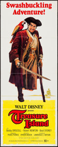 "Movie Posters:Adventure, Treasure Island (Buena Vista, R-1975). Insert (14"" X 36"").Adventure.. ..."