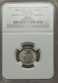 Civil War Patriotics, 1863 United States of America MS62 NGC. Fuld-92/198e....