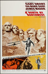 """North by Northwest (MGM, R-1966). One Sheet (27"""" X 41""""). Hitchcock"""
