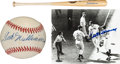 Autographs:Others, 1990's Ted Williams UDA Signed Bat, Baseball & Photograph....