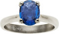 Estate Jewelry:Rings, Montana Sapphire, White Gold Ring. ...