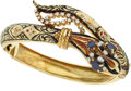 Estate Jewelry:Bracelets, Diamond, Sapphire, Enamel, Gold Bracelet. ...