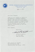 Autographs:Celebrities, Bill Anders Typed Letter Signed Regarding Cardinal Cushing Prayerfor Apollo 8. ...