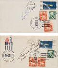 Autographs:Celebrities, Apollo 1 Crew: Individually-Signed Gemini Launch Covers of GusGrissom and Ed White. ...